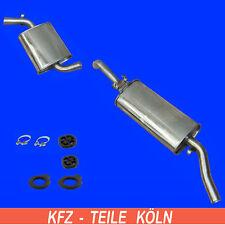 Acero Inox. VW Golf II 1.0 1.3 1.6 / Silenciador Central + Silenciador + Kit