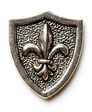 Shield Lapel Pin Fleur de Lis