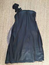 Max Azria One Shoulder Flower Detail Drape Back Dress Size S Small