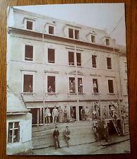 großes altes Foto Bauarbeiter um 1900 Bautzen oder Kamenz