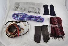 Vintage Lot Of Accessories 3 Scarves Old Navy 2 Pair Gloves Multiple Belts r2o31