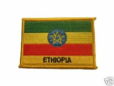 Ethiopia Embroidered Flag patch-Iron on orSew