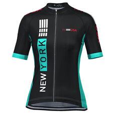 Women's New York USA Techno Short Sleeve Cycling Jersey