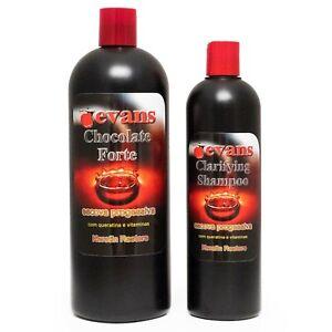 evans Brazilian Keratin Treatment + Clarifying Shampoo Set Factory Sealed
