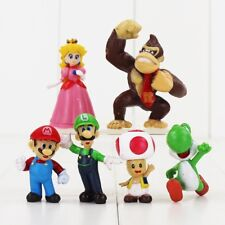 NEW Set of 6 Super Mario Bros Toy Figurines - For Gift or Cake Toppers