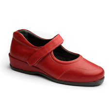 Sandpiper Women's Shoe 'Welton' Extra Wide Fit - RED - Size UK 5