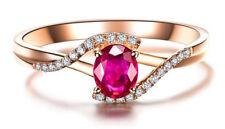 0.44ctw NATURAL DIAMOND 14K YELLOW GOLD RUBY WEDDING ANNIVERSARY RING