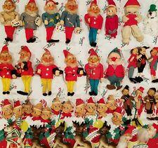 VTG NOS LOT CHRISTMAS ELVES TOYS REINDEER SANTA KNEE HUG JAPAN DEPT LABOR PENN