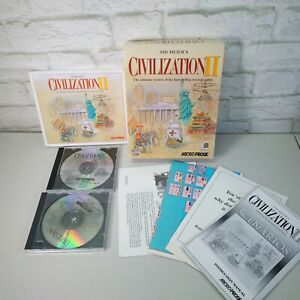 CIVILIZATION II (PC CD-ROM) Original Sid Meier's CIVILISATION CIV 2 BIG BOX VGC