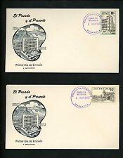 Postal History Panama Scott #C189//C197 FDC Buildings 1957 City Group of 8