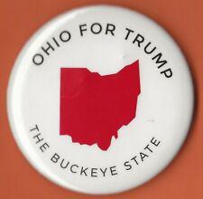"2016 Donald Trump 2.25"" / ""Ohio - White"" Official Presidential Campaign Button"