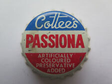 CROWN SEAL BOTTLE CAP COTTEES PASSIONA AUSTRALIA UNUSED c1960