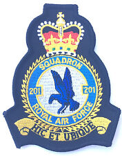 RAF No.201 Squadron Royal Air Force Military Embroidered Patch Official Crest