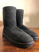 UGG Australia Women's Classic Short 5825 Sheepskin Boot Shoes Black Size 11