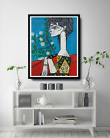 Pablo Picasso Oil Painting Jacqueline Hand-Painted Art Canvas 24x30 Unframed