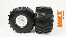 IMEX Jumbo Kong Tires w/ Sayville Rims (White) (2 Pair)