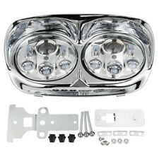 """5 3/4"""" Chrome Projector Dual HeadLight lamp For Harley Road Glide 1998-2013 2012"""