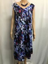 AUTOGRAPH SIZE  20,BNWT FLORAL FIT AND FLARE DRESS,WEDDING,RACES,SPECIAL EVENT