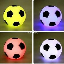 LED Night Light Color Changing Soccer Ball Table Lamp Sports Football CA