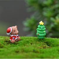 5X Christmas Figurines Xmas Squirrel Garden Decor Miniatures Micro Landscape_ws