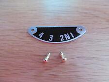 57-1417 TRIUMPH 3TA 5TA T90 T100 1957-74 GEARBOX INDICATOR PLATE WITH RIVETS