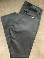 "ARMANI EXCHANGE GREY SLIM FIT TROUSERS PANTS CHINOS 8NZJ13 - 31"" R - NEW & TAGS"
