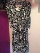Oasis Animal Print 3/4 Sleeve Dresses for Women