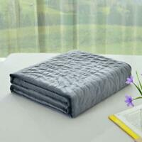 60x80Velvet Removable Duvet Only Cover For Weighted Blanket Queen Size Dark Gray