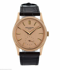 Solid Gold Case Unisex Round Wristwatches with 12-Hour Dial