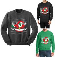 Dabbing Santa Crew neck Sweatshirt Ugly Christmas Sweater S- 3XL Men Women