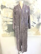 Victoria's Secret XS/S Purple Long Plush Terry Cloth Spa Bath Robe No Belt