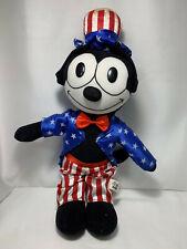 "Felix the Cat Stuffed Plush Animal Patriotic Uncle Sam Red White & Blue 17"""