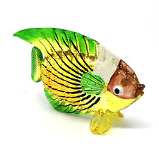 Small Blown Glass Fish Figurine Collectible Handicraft Tropical Nautical Decor