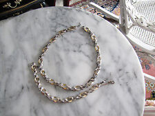 vintage mazer necklace bracelet set rhinestone