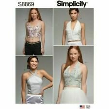 Simplicity Sewing Pattern 8869 (6-14) (14-22) Misses Boned Halter Tops