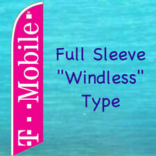 T MOBILE WINDLESS FEATHER FLAG Cell Phone Tall Advertising Sign Swooper Banner