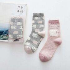 2 Pairs Hot Fashion Women Creative Cute Cartoon Print Casual Cotton Warm Socks 3