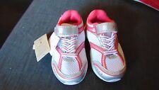 M&S Scuff Resistant Toe Single Strap Casual Trainers UK5 Infant White Mix BNWT
