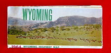 Wyoming State Official Highway Map 1964 msc3