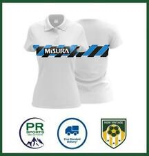 More details for new vintage football inter milan 1990 retro away shirt womens polo top