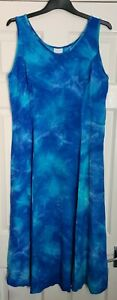 Floaty Patterned Blue Maxi Dress - Size 12/14 - Immaculate