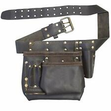 Heavy Duty Leather Multi Pocket Tool Belt Pouch Supplies Storage Holder