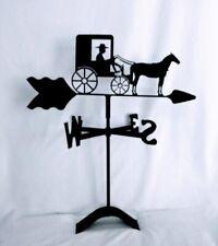 Échelle 1:12 en métal noir one piece coq girouette tumdee Maison de Poupées Accessoire