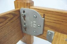 Wood Sleigh Bed Rail Hardware  Fasteners - 4 Bracket Sets