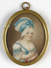 """Portrait of a girl"", miniature from Bernard-Franck collection!!, ca. 1790"