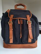 Authentic Dunhill Canvas and Leather Bag Backpack Large Rucksack