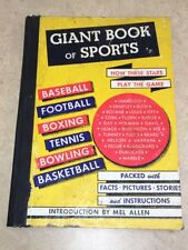 Giant Books of Sports Samuel Nisenson 1948 1st Ed. Babe Ruth Joe Louis Ty Cobb