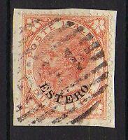 ITALY 1874 LEVANTE surcharged ESTERO 2L Used  (Sa.9)