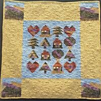 "Love My Mountain Home Wall Hanging Quilt 30"" x 30"""