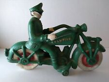 """Vintage Cast Iron Champion Police Motorcycle. 7"""" Long x 4.25"""" HighHubley?"""